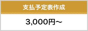 支払い予定表作成3000円~